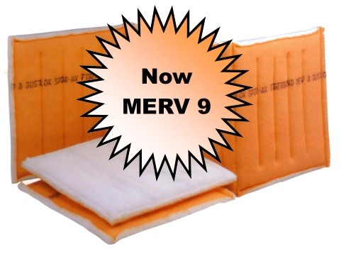 25 x 132-142- Fiberbond Dustlok 3-Ply Continuous Link - MERV 9 (6 Panels)