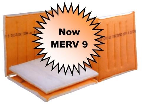 10 x 60-64 - Fiberbond Dustlok 3-Ply Continuous Link - MERV 9 (3 Panels)