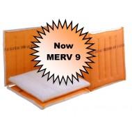 25 x 120-130- Dustlok 3-Ply Continuous Link - MERV 9 (6 Panels)
