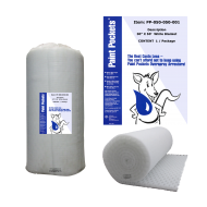 "50"" x 50' Paint Pockets WHITE Overspray Arrestor (1 / pkg)"