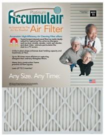 10x10x2 (9.5 x 9.5 x 1.75 Accumulair® Platinum 2-Inch High-Capacity Filter (MERV 11)