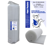 "60"" x 28' Paint Pockets WHITE Overspray Arrestor Blanket Roll (1 / pkg)"